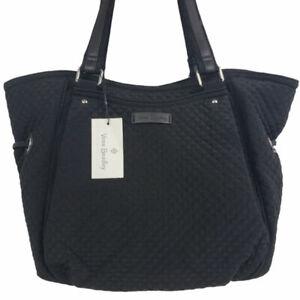 Vera Bradley Iconic Glenna Satchel Fabric Bag Black