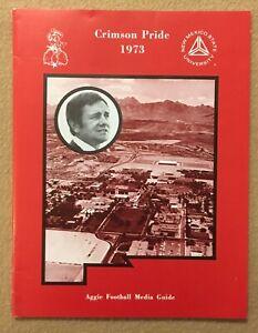1973 New Mexico State University Aggies Football Media Guide Crimson Pride Tough