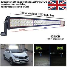 CREE LED Light Bar Spot Flood Combo 42INCH 240W Offroad vehicles 4X4WD LANDROVER