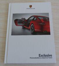 BROCHURE CATALOGUE LIVRE PORSCHE EXCLUSIVE PERSONNALISATION + 60 PAGES FRANCAIS
