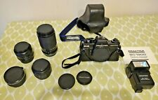 Prakticar B Lenses and SLR - f1.8 50mm, f2.8 28mm primes, f22 70-210mm zoom, etc