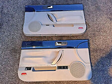 98-10 VW Volkswagen Beetle Convertible Left Right Door Panels SET blue / gray