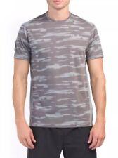 $40 Under ArmourThreadborne Heatgear Run Men's Sz LARGE Grey Mesh Shirt 1298851