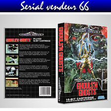 "BOX, CASE ""GHOULS'N GHOSTS"".MEGADRIVE. BOX + COVER PRINTED. NO GAME.MULTILINGUAL"