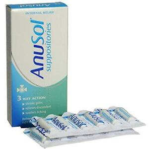 2 x Anusol Suppositories 24 (3 Way action)