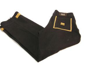 Marithe Francois Girbaud Jeans Black Gold Shuttle Tape M+FG Cargo Vintage Men 34