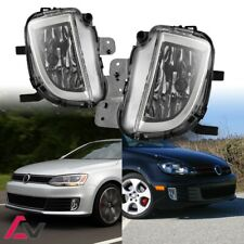 10-17 For GTI Jetta Clear Lens Pair Bumper Fog Light Lamp OE Replacement DOT