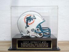 Football Mini Helmet Display Case With A Tony Dorsett Dallas Cowboys Nameplate