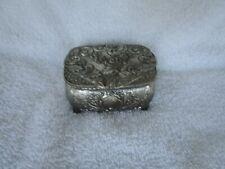Vintage SilverPlated Jewelry Trinket Box +Red Velvet!!~~NICE!!!~JAPAN