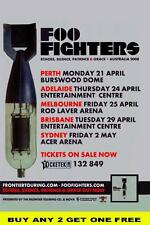 FOO FIGHTERS 2008 Australian Laminated Tour Poster