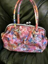 New Shin and company pink hologram floral butterfly  handbag 50s