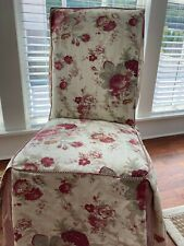 Fabric Parsons Chair Slipcover - Waverly Vintage Rose