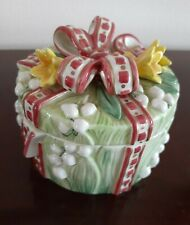 Fitz and Floyd Essentials Trinket Keepsake Box Lily of the Valley Vintage New