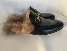 Gucci Mens Princetown Leather Slippers, Gucci Size 7 = 7.5 US