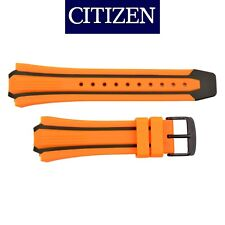 Original CITIZEN Eco Drive  Watch Band Strap  BN0097-11E 26mm Orange /Black