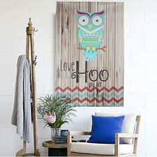 Unframed Canvas Home Decor Wall Art Painting Picture Love Hoo Owl 15.7x23.6""