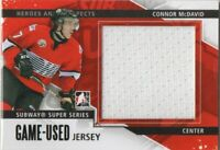 13-14 ITG HEROES AND PROSPECTS SUBWAY SUPER SERIES GAME JERSEY CONNOR MCDAVID