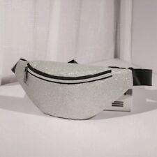 Womens Sequins Glitter Waist Belt Leather Bum Bag Fanny Pack Travel Pouch Purse
