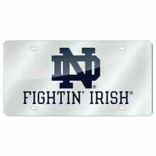 Notre Dame Fighting Irish Official NCAA Plastic License Plate by Rico 310325
