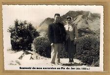 Cpa Carte Photo Lourdes souvenir de mon excursion au Pic du Jer bt141