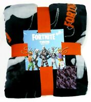 New Primark Fortnite shuffle Dancing Throw Blanket soft fleece Grey Ltd Edition