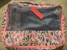 NWT Lilly Pulitzer Sea Island Packing Cube Set Pink Blossom Girls Night Out