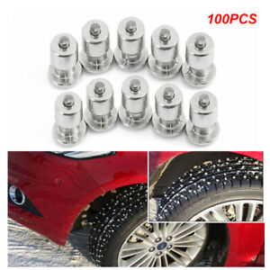 100PCS Winter Universal Car Motorcycle Tire Studs Snow Chain Studs 8-12-2 (mm)