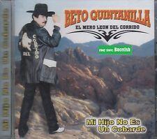 Beto Quintanilla Mi hijo No es un Cobarde CD New Nuevo sealed