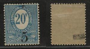 Oberschlesien 10 XIV, Falzrest, Prüfzeichen fraglich; #d179