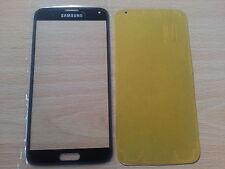 Cristal de Pantalla Tactil Negra para Samsung Galaxy S5 SV I9600 + Adhesivo