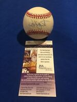 Robin Yount Signed Official American League (Brown) Baseball w/ JSA COA Brewers