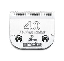 Andis Ultra Edge 40 Ss Blade (de acero inoxidable quirúrgicas) 0,25 Mm. de acicalado de perros.
