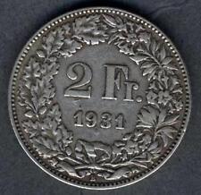 SWITZERLAND 2 Francs 1931