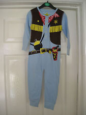 BOYS ALL-IN-ONE SLEEPSUIT PYJAMAS COWBOY SHERRIFF FANCY DRESS AGE 3-4 -BRAND NEW