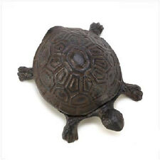 New! Cast Iron Turtle Hide-A-Key *Yard & Garden* Decorative/Security *Burnished*