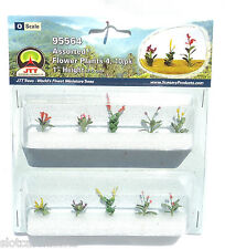 "JTT SCENERY 95564 ASSORTED FLOWER PLANTS 4  O SCALE  1"" HIGH   10/PK"