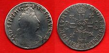 FRANCE : Louis XIV Roi Soleil Beau demi-écu 1704 CC Besançon Argent Très rare