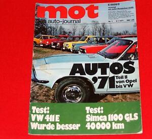 VW 411 E Test !  FT BONITO - Typ 4 Variant -Type3 1600 Jan.1971 MOT Auto Journal