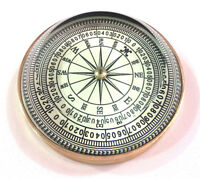 Nautical Antique Maritime Brass Dome Lens Floating Dial Compass Vintage Decor