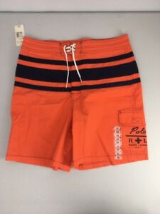 Vtg Polo R+L NYC 90s Ralph Lauren Board Shorts Mens 32 Swim Trunks Orange NWT