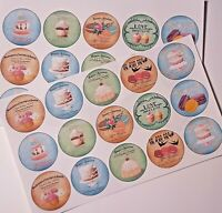 30-90 PRE-CUT EDIBLE WAFER CUP CAKE TOPPERS VINTAGE SHABBY CHIC FRENCH DESSERTS