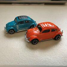 "MATCHBOX ""'62 VW BEETLE""  X2   ORG/BLU  WHEEL VARIATIONS   k"
