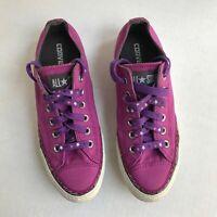 Converse All Star Chuck Taylor Purple Canvas Shoe Womens 8.5 Star Laces EUC