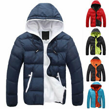 Mens Hoodie Bubble Coats Padded Puffer Jacket Winter Warm Quilted Zip Up Outwear
