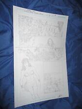 WONDER WOMAN #1 Rebirth ORIGINAL ART Page #8 by Matthew Clark (Movie/JLA/DC)
