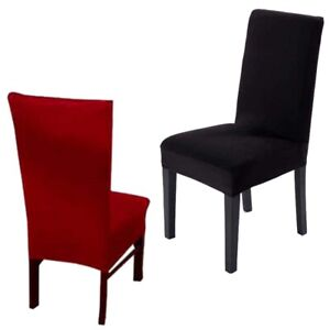 Stretch Chair Covers Removable Decor Dining Room Lycra Spandex Seat Cover Decor