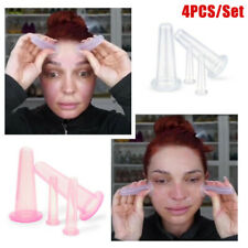 4PCS Cup Facial Face Eye Silicone Cupping Vacuum Suction Therapy Lifting Massage