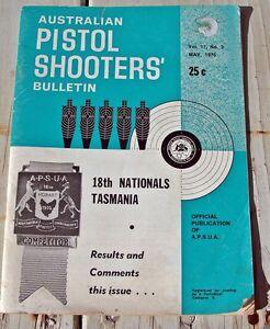 AUSTRALIAN PISTOL SHOOTERS'  BULLETIN. MAY 1975