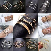 New Fashion Women's Jewelry Set Natural Stone Beaded Chain Alloy Bracelets