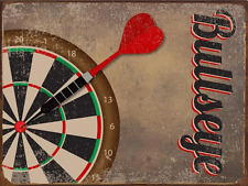 Bullseye Dart Board Metal Sign, Darts, Game Room, Mancave, Den